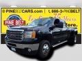 Onyx Black 2012 GMC Sierra 3500HD SLT Crew Cab 4x4 Dually