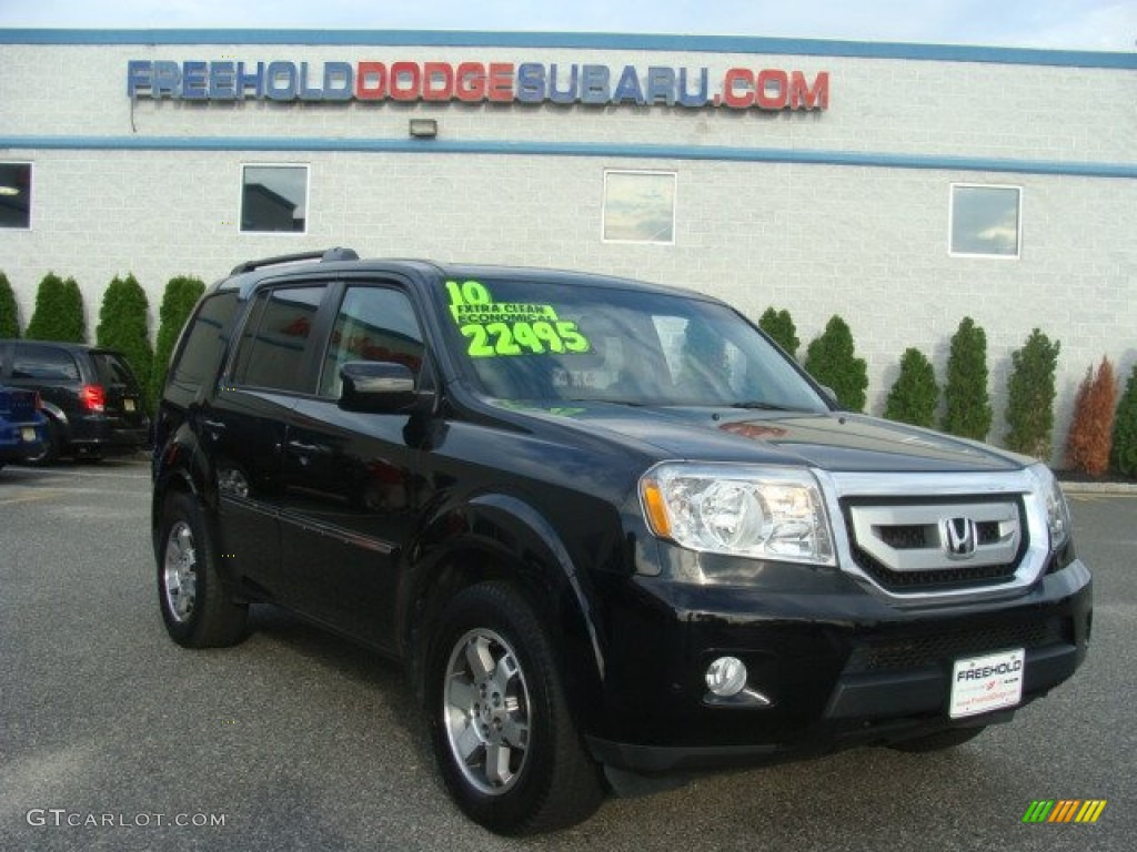 2010 crystal black pearl honda pilot touring 4wd 97229548. Black Bedroom Furniture Sets. Home Design Ideas