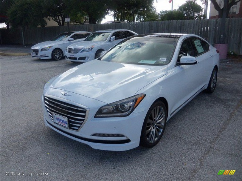 2015 Casablanca White Hyundai Genesis 5.0 Sedan #97229095 ...