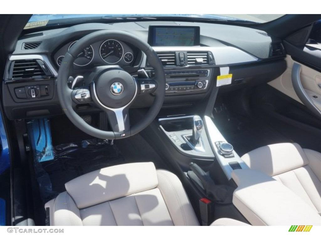 Oyster Black W Dark Accents Interior 2015 BMW 4 Series 428i Convertible Photo
