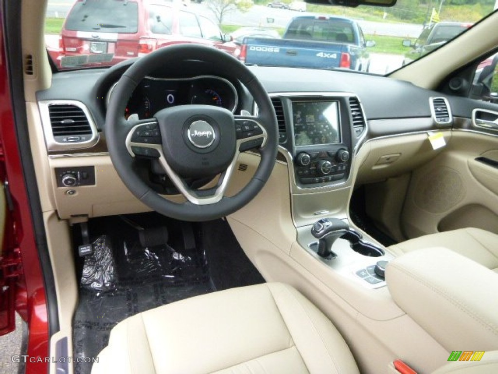 Black Light Frost Beige Interior 2015 Jeep Grand Cherokee Limited 4x4 Photo 97353594
