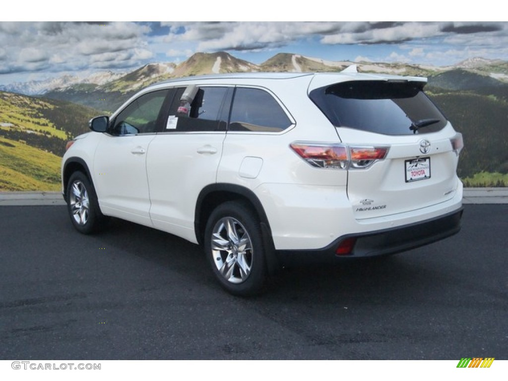 2015 Blizzard Pearl White Toyota Highlander Limited Awd