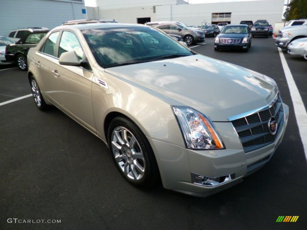 Gold Mist 2009 Cadillac Cts 4 Awd Sedan Exterior Photo