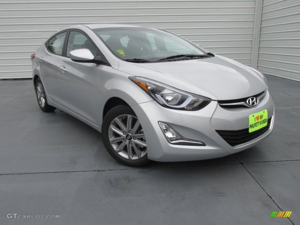 2015 Elantra SE Sedan   Shimmering Air Silver / Gray Photo #1