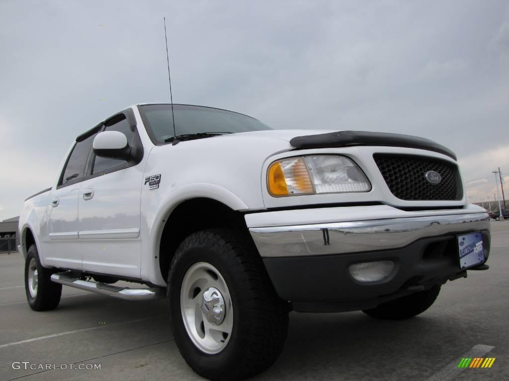 2001 Oxford White Ford F150 XLT SuperCrew 4x4 9729567 Car C
