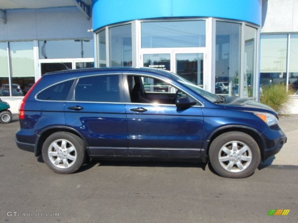 2008 CR-V EX 4WD - Royal Blue Pearl / Black photo #2