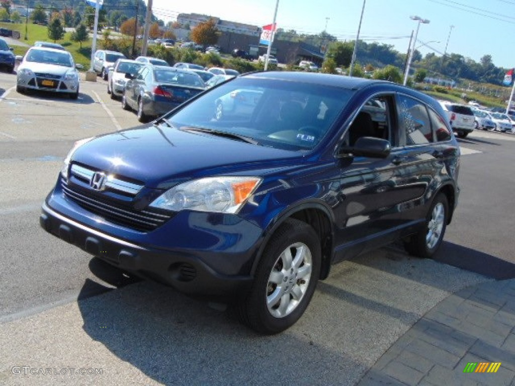 2008 CR-V EX 4WD - Royal Blue Pearl / Black photo #5