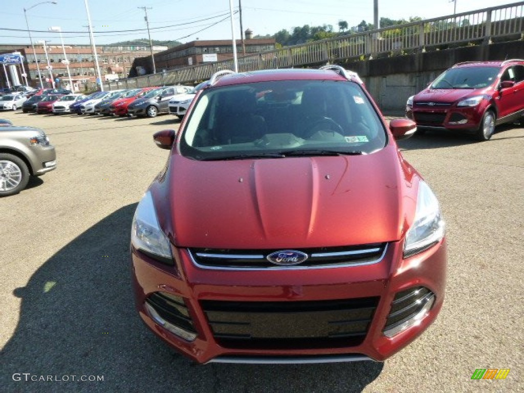 2014 Escape Titanium 2.0L EcoBoost 4WD - Sunset / Charcoal Black photo #3
