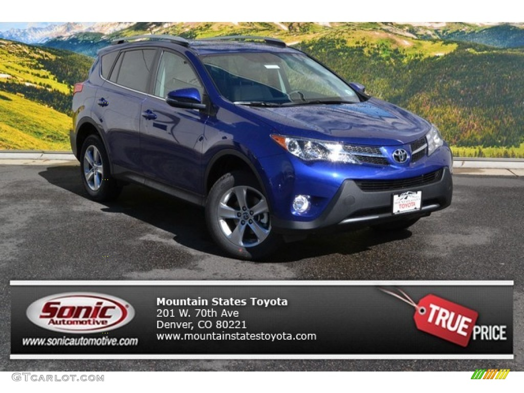 2015 blue crush metallic toyota rav4 xle awd 97521645 car color galleries. Black Bedroom Furniture Sets. Home Design Ideas