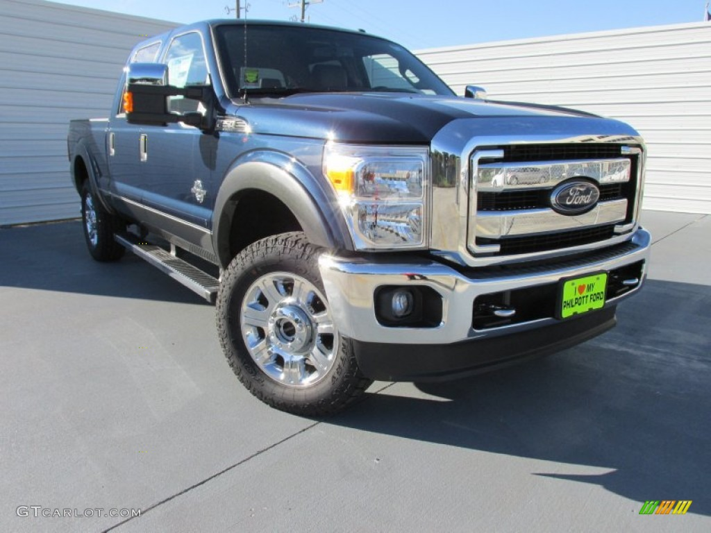 2015 f250 super duty lariat crew cab 4x4 blue jeans black photo 1