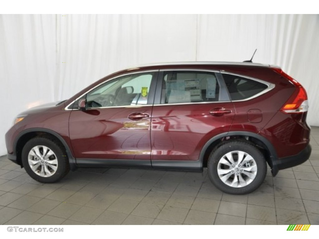 2014 CR-V EX-L - Basque Red Pearl II / Gray photo #4