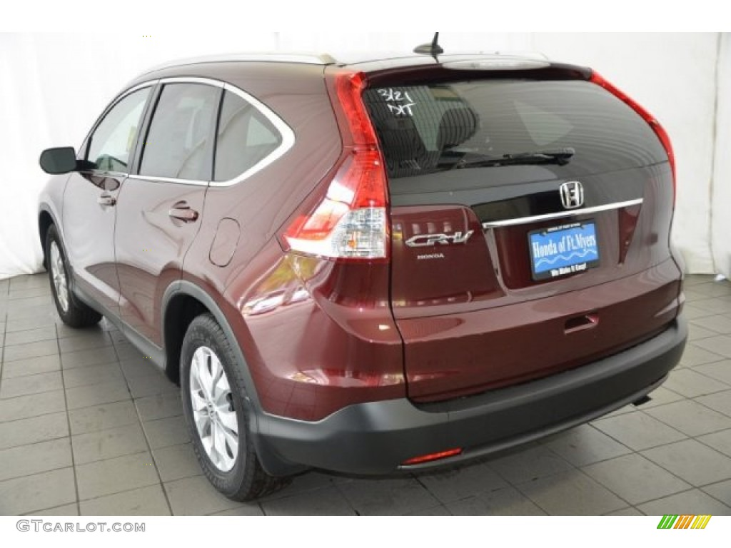 2014 CR-V EX-L - Basque Red Pearl II / Gray photo #5