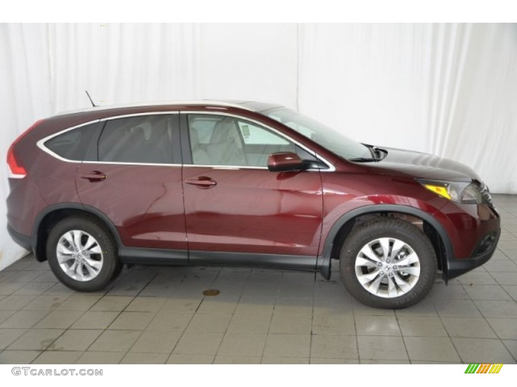2014 CR-V EX-L - Basque Red Pearl II / Gray photo #7