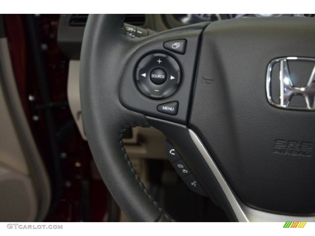 2014 CR-V EX-L - Basque Red Pearl II / Gray photo #20