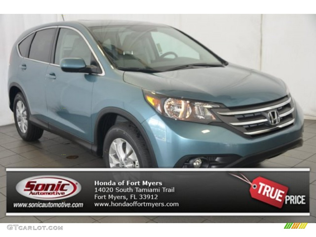 2014 CR-V EX - Mountain Air Metallic / Beige photo #1