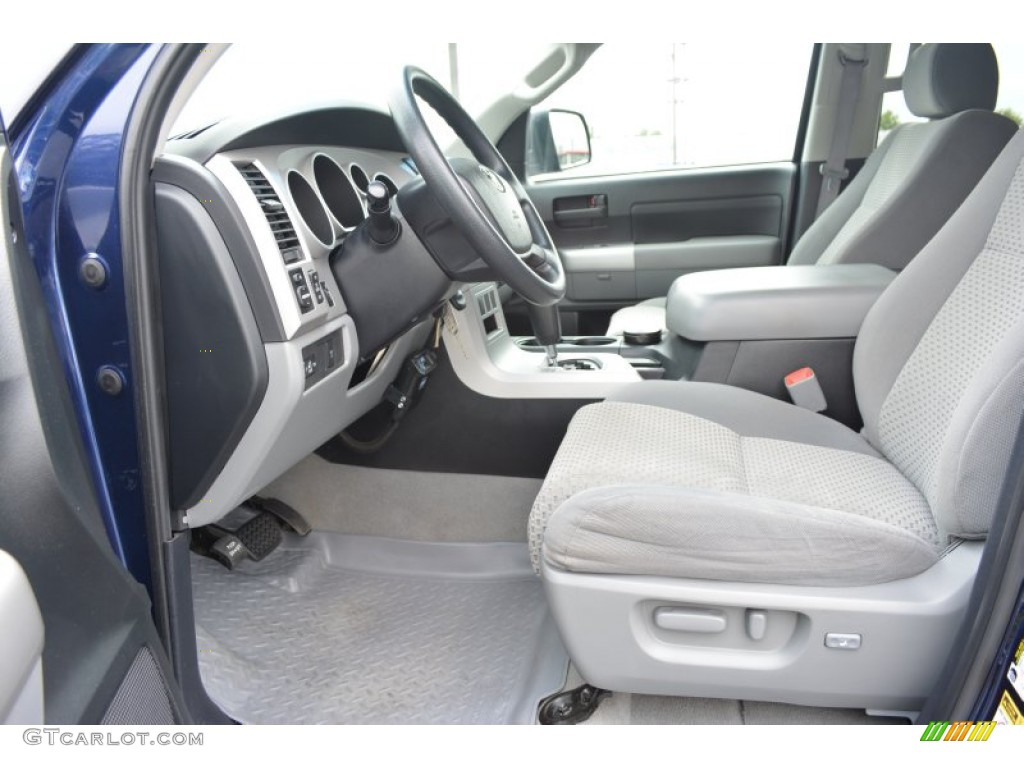 2008 Tundra SR5 Double Cab 4x4 - Blue Streak Metallic / Graphite Gray photo #9