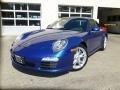 Aqua Blue Metallic 2009 Porsche 911 Carrera Coupe