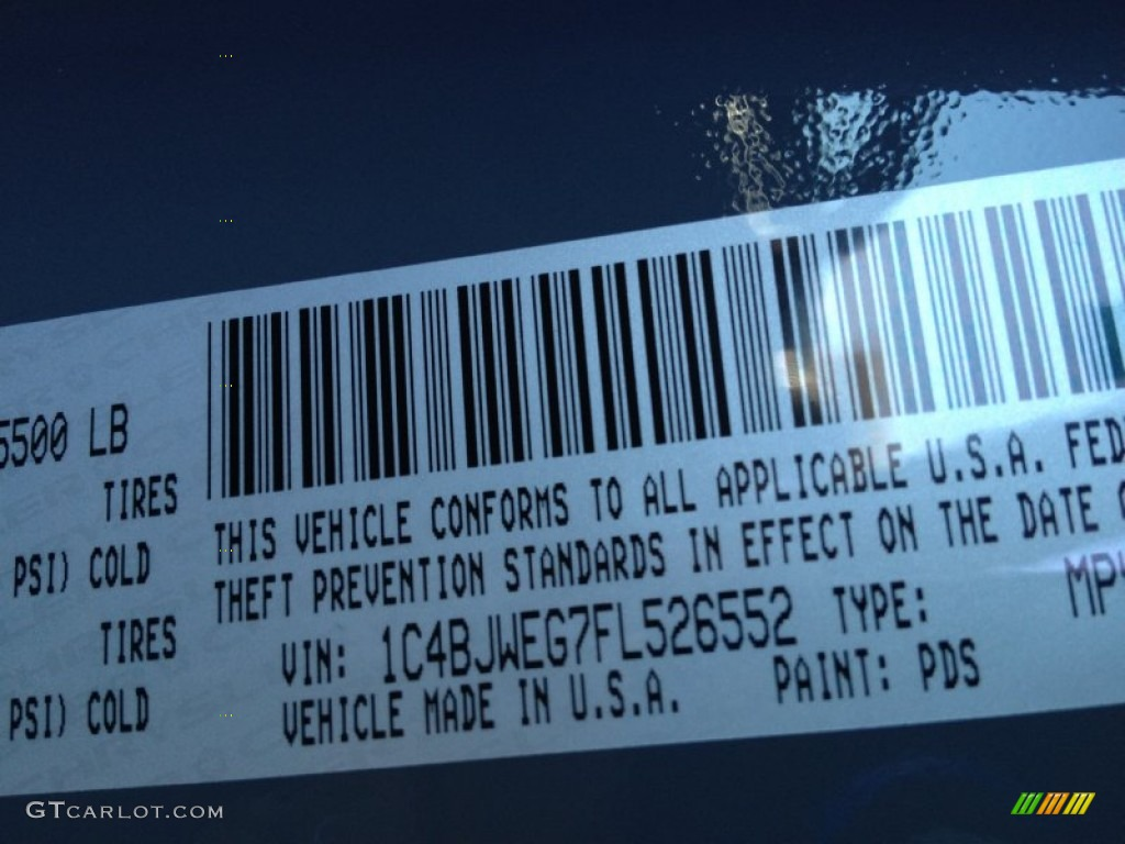2015 wrangler unlimited color code pds for anvil photo 97663920