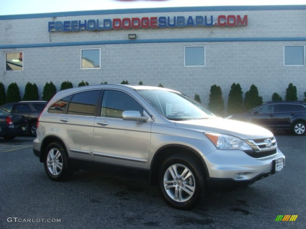 2010 CR-V EX-L AWD - Alabaster Silver Metallic / Black photo #1