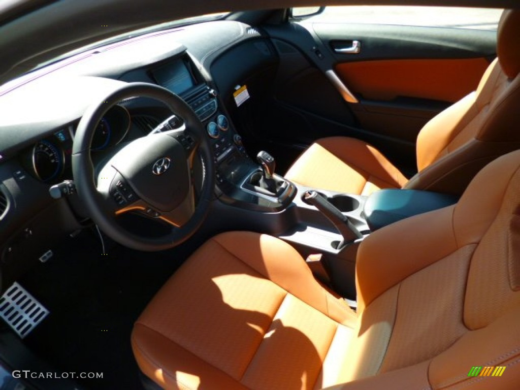 Black Tan Interior 2015 Hyundai Genesis Coupe 3 8 Ultimate