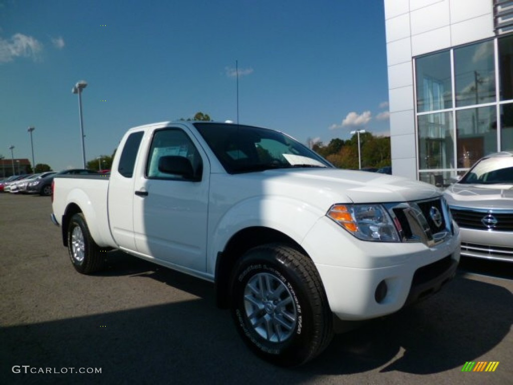 2015 glacier white nissan frontier sv king cab 4x4. Black Bedroom Furniture Sets. Home Design Ideas
