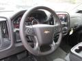Jet Black Steering Wheel Photo for 2015 Chevrolet Silverado 1500 #97805715