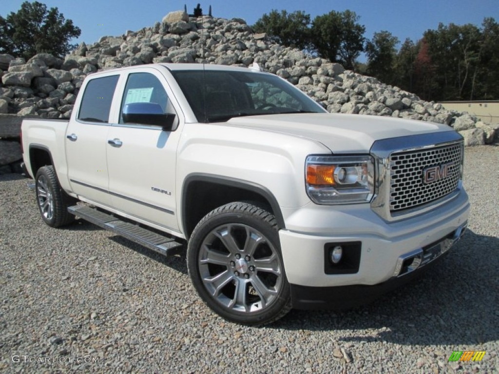 2015 white diamond tricoat gmc sierra 1500 denali crew cab 4x4 97784237 car. Black Bedroom Furniture Sets. Home Design Ideas