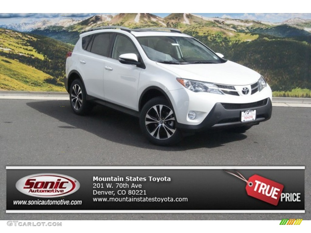 2015 blizzard pearl toyota rav4 limited awd 97824219 car color galleries. Black Bedroom Furniture Sets. Home Design Ideas