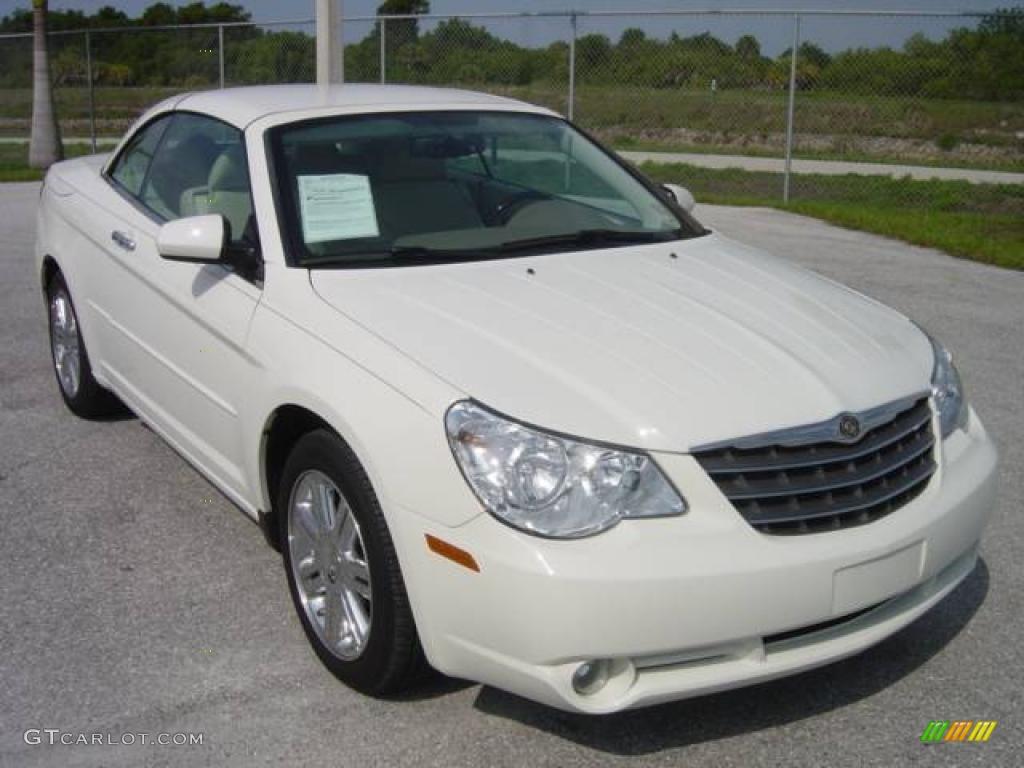 2008 Stone White Chrysler Sebring Limited Hardtop