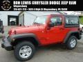 Firecracker Red 2015 Jeep Wrangler Sport 4x4