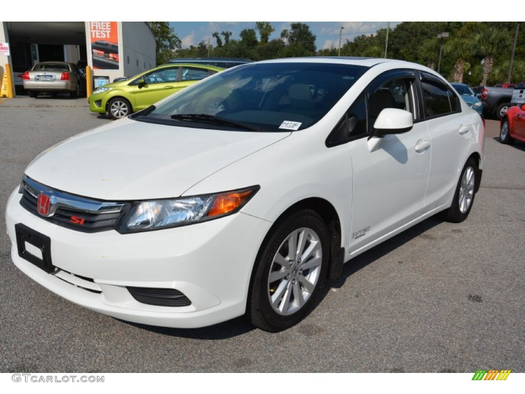 taffeta white 2012 honda civic ex l sedan exterior photo 97861224. Black Bedroom Furniture Sets. Home Design Ideas