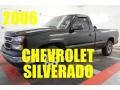 2006 Black Chevrolet Silverado 1500 Work Truck Regular Cab #97863405