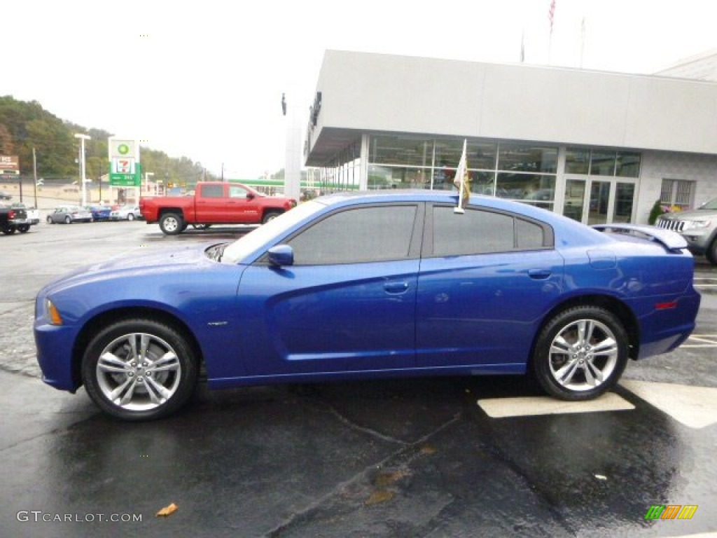 Blue Streak Pearl 2012 Dodge Charger R T Plus Awd Exterior