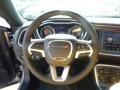 2015 Dodge Challenger Black/Ruby Red Interior Steering Wheel Photo