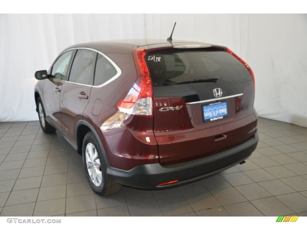 2014 CR-V EX - Basque Red Pearl II / Gray photo #5