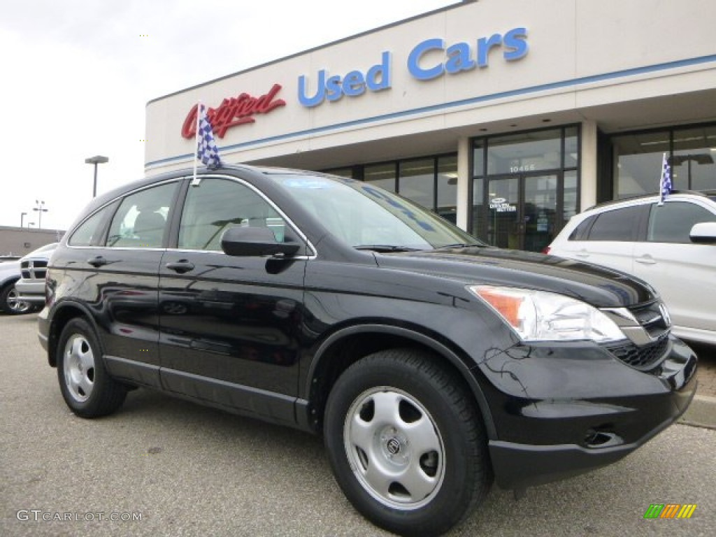2010 CR-V LX - Crystal Black Pearl / Ivory photo #1