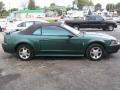 2001 Tropic Green metallic Ford Mustang V6 Convertible  photo #2