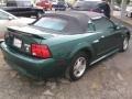 2001 Tropic Green metallic Ford Mustang V6 Convertible  photo #4