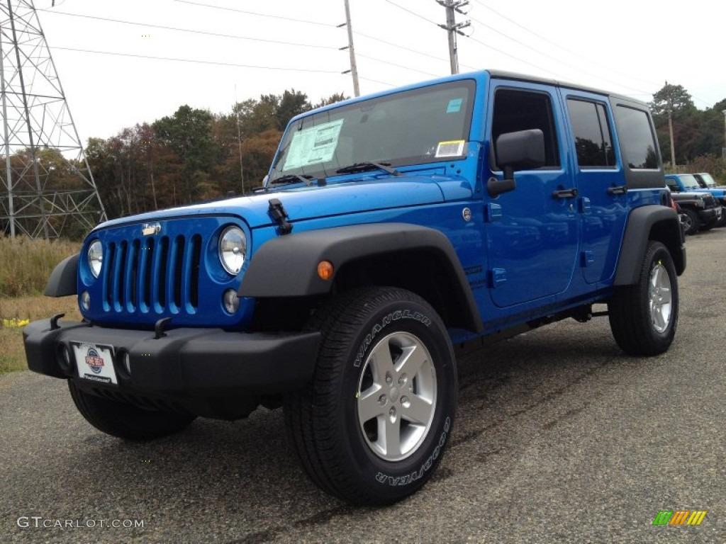 2015 Hydro Blue Pearl Jeep Wrangler Unlimited Sport 4x4 #98092742 ...