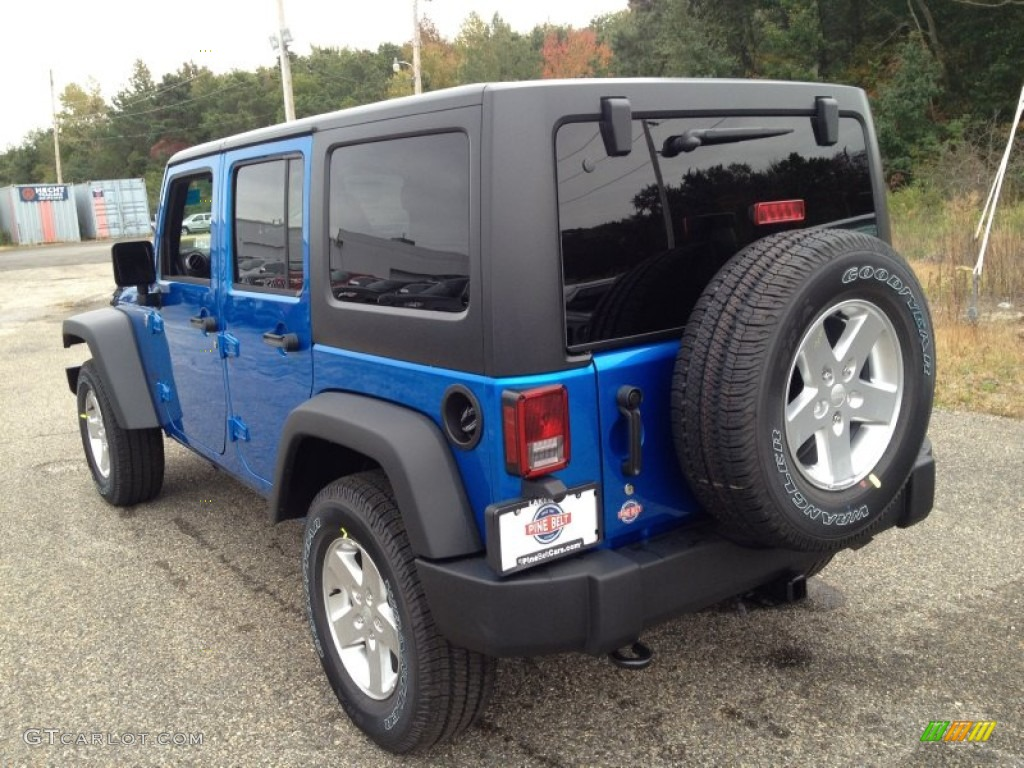2015 hydro blue pearl jeep wrangler unlimited sport 4x4 98092742 photo 4 car. Black Bedroom Furniture Sets. Home Design Ideas