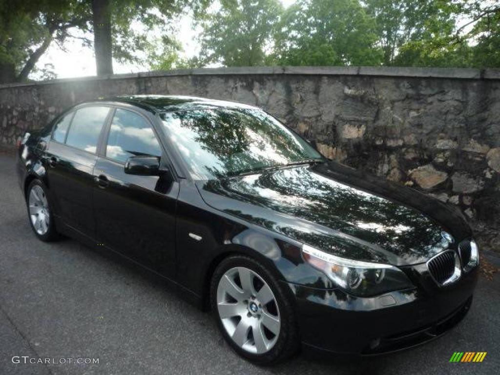 2006 black sapphire metallic bmw 5 series 530i sedan #9388636