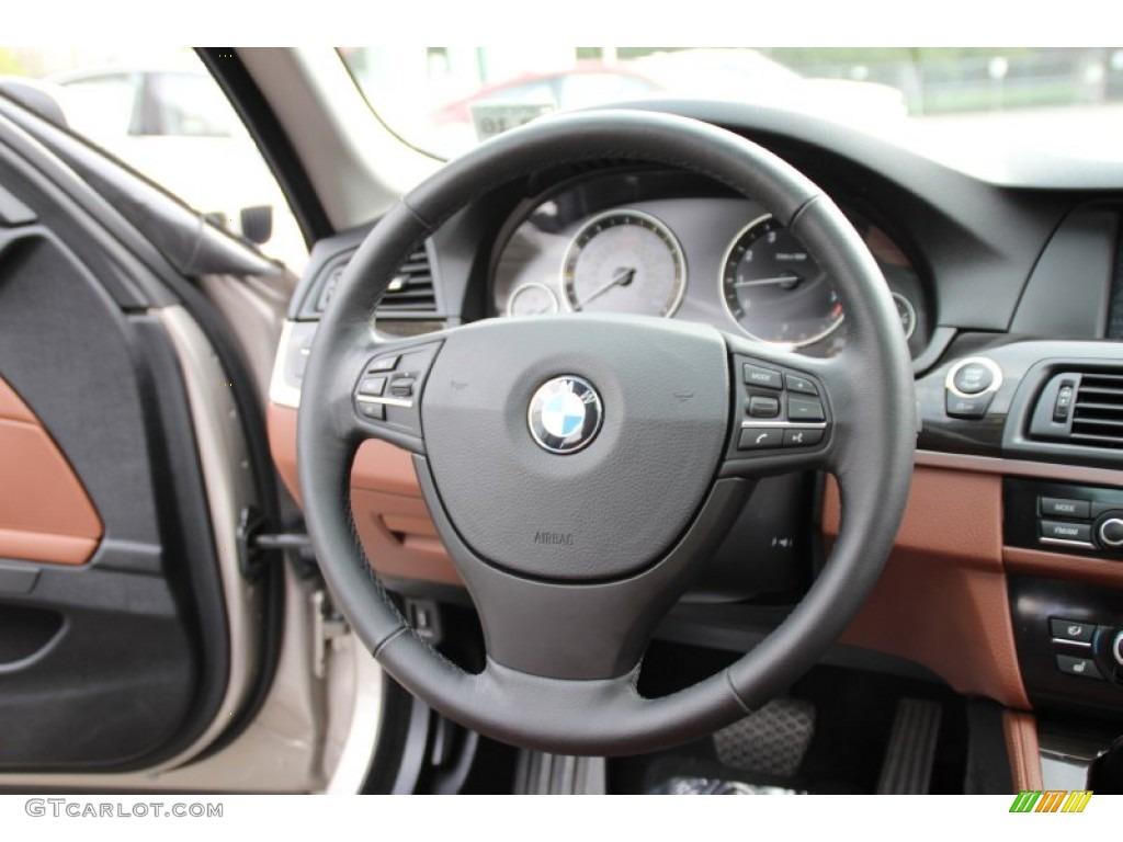 2012 Bmw 5 Series 528i Xdrive Sedan Cinnamon Brown Steering Wheel Photo 98122256