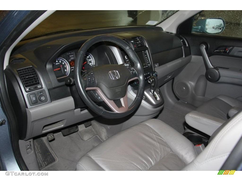 2009 CR-V EX-L 4WD - Glacier Blue Metallic / Black photo #6