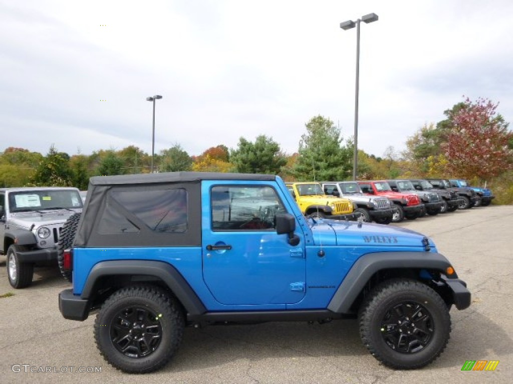 Picture of 2006 jeep wrangler rubicon exterior - Hydro Blue Pearl 2015 Jeep Wrangler Willys Wheeler W 4x4