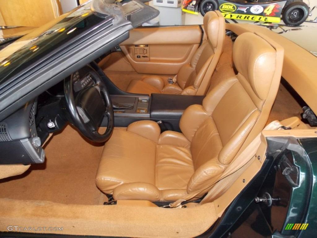 Saddle Interior 1991 Chevrolet Corvette Convertible Photo