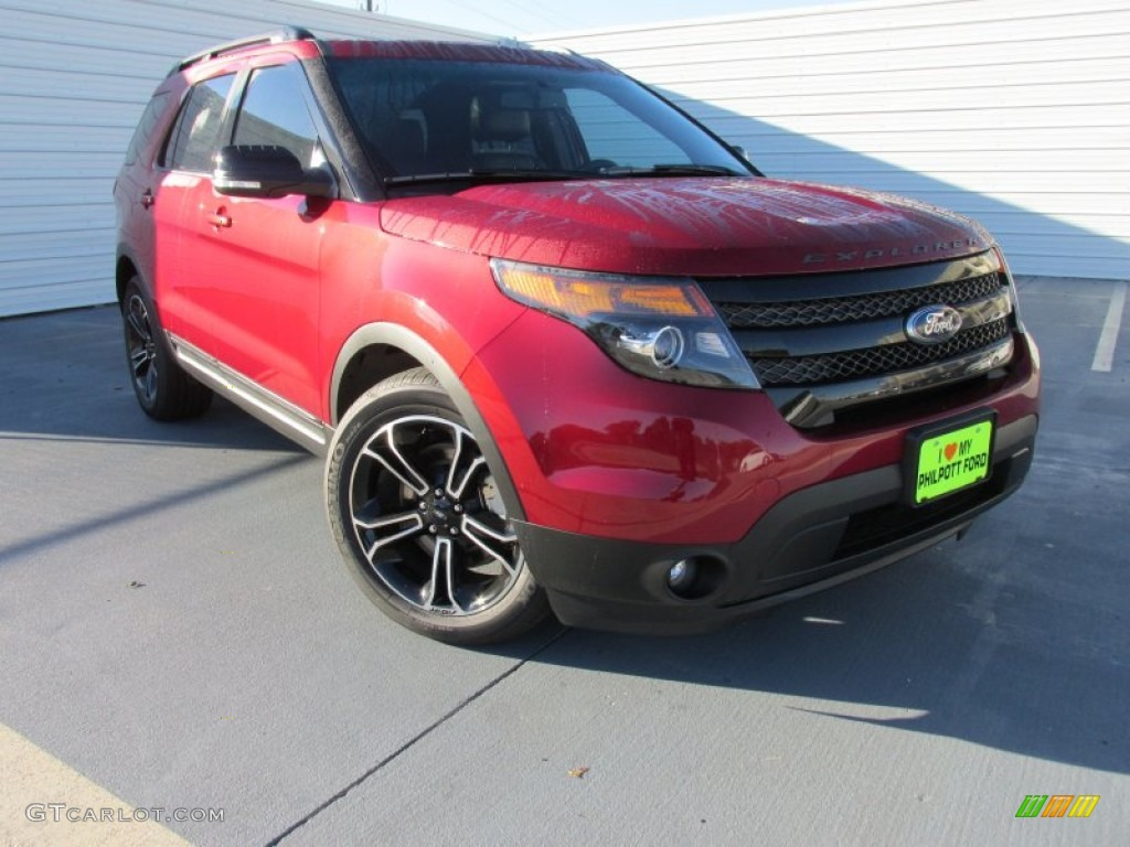 2015 explorer sport 4wd ruby red sport charcoal black photo 1
