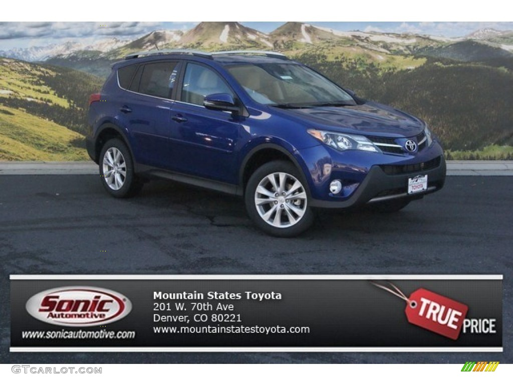 2015 blue crush metallic toyota rav4 limited awd 98247411 car color galleries. Black Bedroom Furniture Sets. Home Design Ideas
