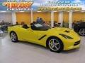 Velocity Yellow Tintcoat 2015 Chevrolet Corvette Stingray Convertible