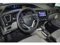 2015 Modern Steel Metallic Honda Civic EX-L Sedan  photo #9