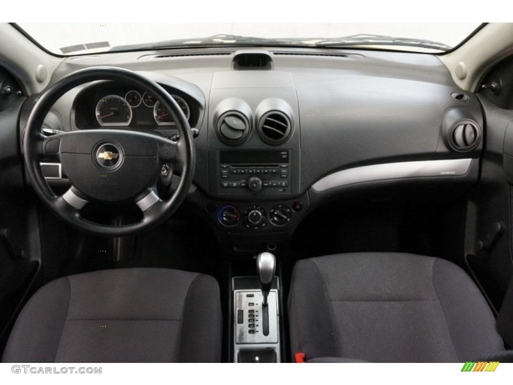 2010 Chevrolet Aveo LT Sedan Charcoal Dashboard Photo #98349636